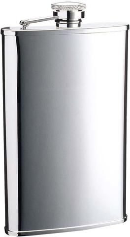 Фляга S.Quire 0,18 л, сталь, серебристый цвет, 96x21x135 мм (1406YA)