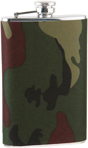 Фляга S.Quire 0,24 л, сталь+ткань, вставка камуфляж (TB08-3411N)
