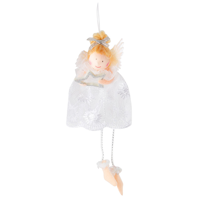Фигурка декоративная Ангел (с подвесом) 18C-2666W (005822)