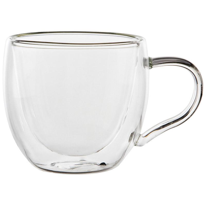Набор из 2 чашек AROMA (2x150 мл) с двойными стенками (боросиликатное стекло) (008243)