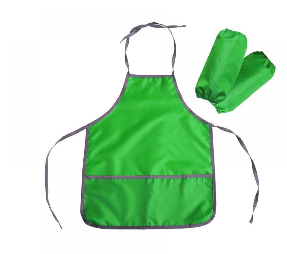 Фартук и нарукавники ФН1 З цвет-зеленый