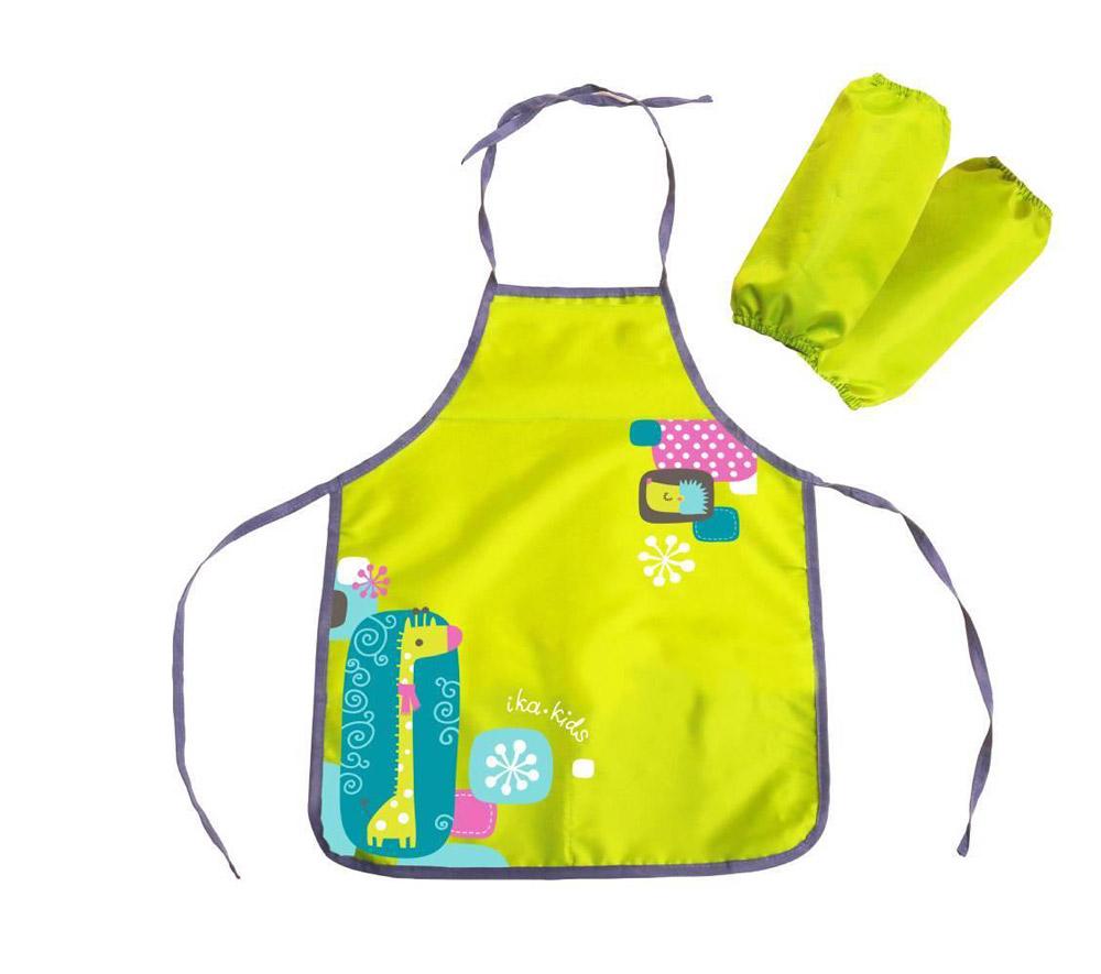 Фартук и нарукавники ФН2 Ж с рисунком-жираф, цвет-лимонный