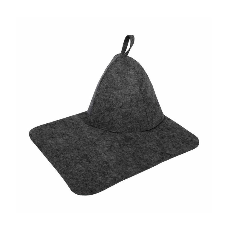 Набор для бани 2 предмета (шапка и коврик) Hot Pot (лавсан, серый)
