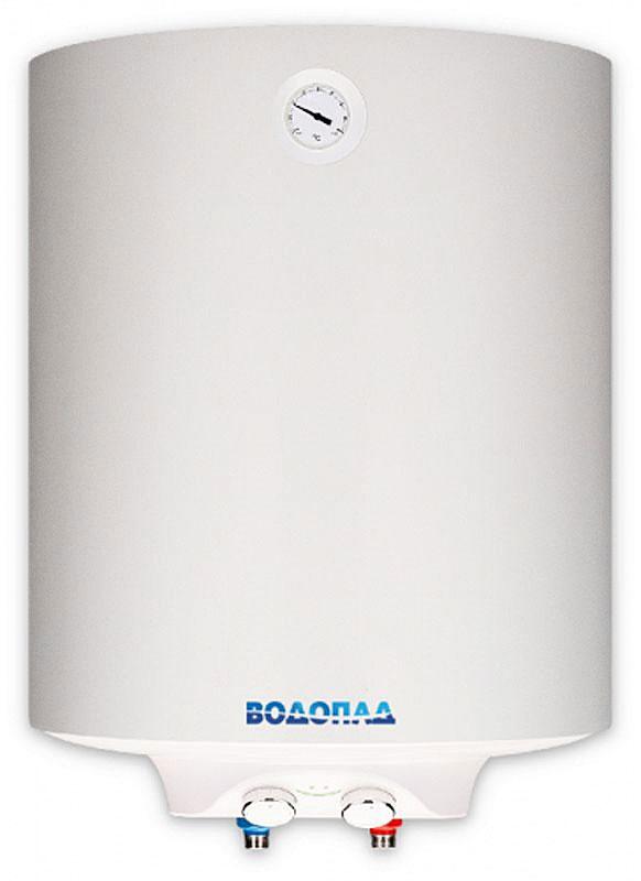 Водонагреватель накопительный ВОДОПАД ВД-50 1,5 Slim белый (Объем 50 л, мощность1,5 кВт, терморегулятор, термометр, индикатор включения, авариный клапан)