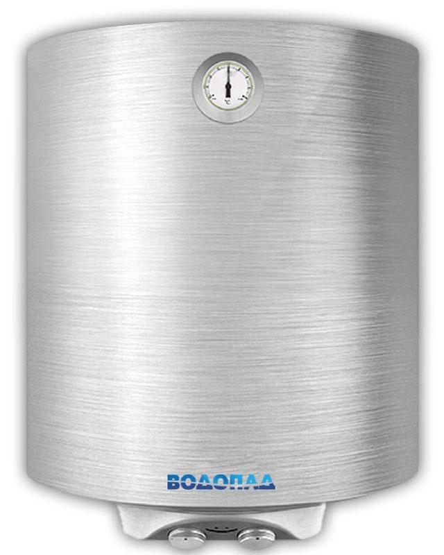 Водонагреватель накопительный ВОДОПАД ВД-50 1,5 Slim сталь (Объем 50 л, мощность1,5 кВт, терморегулятор, термометр, индикатор включения, авариный клапан)