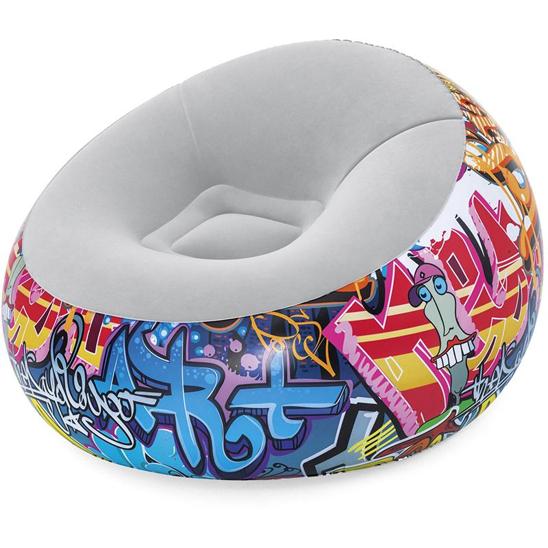 Надувное кресло Graffiti 112x112x66 см Bestway 75075 (006248)
