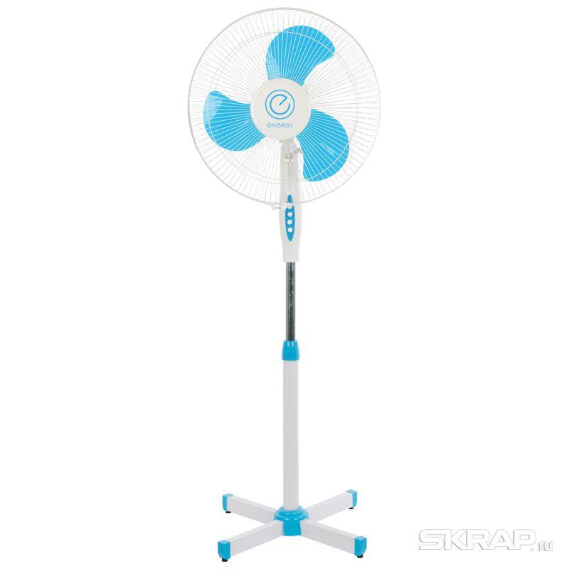 Вентилятор Energy EN-1661 (напольный) 16 цвет голубой 2шт коробка (009361)