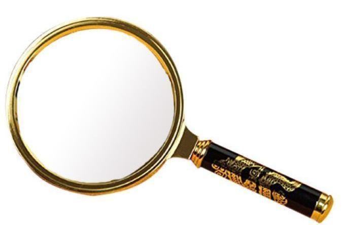 Лупа Magnifier-2673 (цвет-золото) диаметр 60 мм