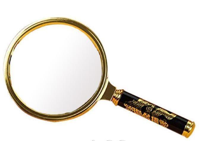Лупа Magnifier-2674 (цвет-золото) диаметр 70 мм
