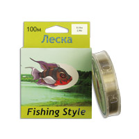 Леска Fishing Style RL2910 0.18mm тест 2.90кг 100m