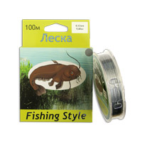 Леска Fishing Style RL2902 0.12mm тест 9.40кг 100m (плетенка серая)