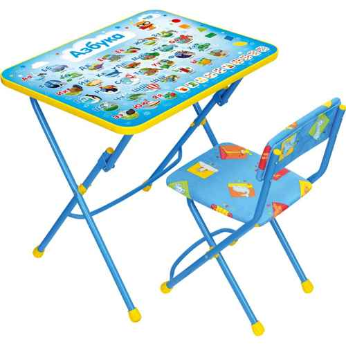 Комплект детской мебели Ника КУ1 9 (для 3-7 лет) тема Азбука