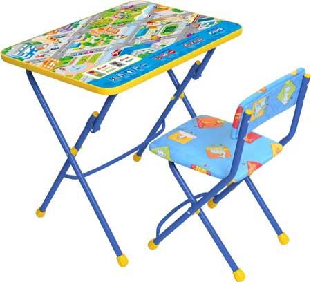 Комплект детской мебели Ника КУ1 14 (для 3-7 лет) тема ПДД