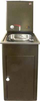 Умывальник Элвин в комплекте с ЭВБО-20-1 20 л узкий, антик-серебро, нержавеющая мойка