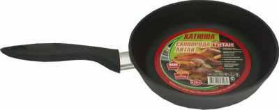Сковорода Катюша антипригарная литая 1122 титан 22см