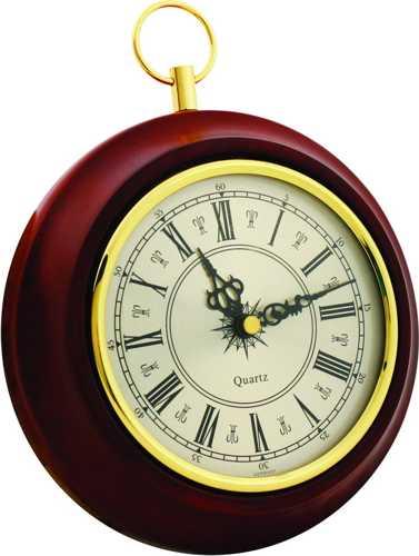 Часы настенные ПБ-04 в корпусе из массива дерева (диаметр 170 130 мм)