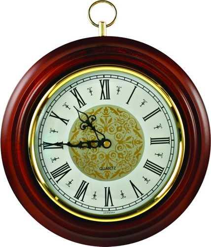 Часы настенные ПБ-06 в корпусе из массива дерева (диаметр 240 180 мм)