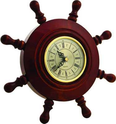 Часы настенные Штурвал ШЧСТ-С03 в корпусе из массива дерева (диаметр 320 108 мм)
