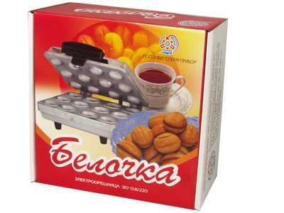 Орешница электрическая Белочка ЭО-0.8 220 (для приготовления печенья Орешки) 800Вт