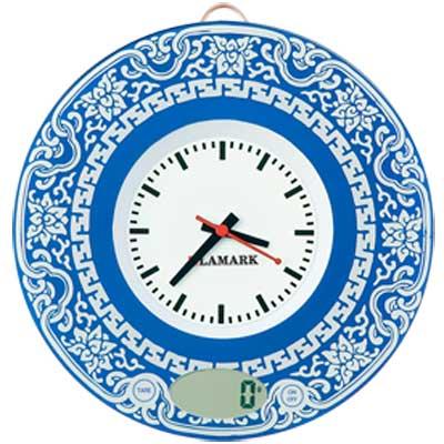 Кухонные весы с часами.