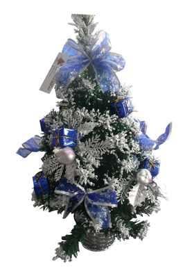 Ель IRIT декоративная ING-003F 40см (синие банты, подарки)