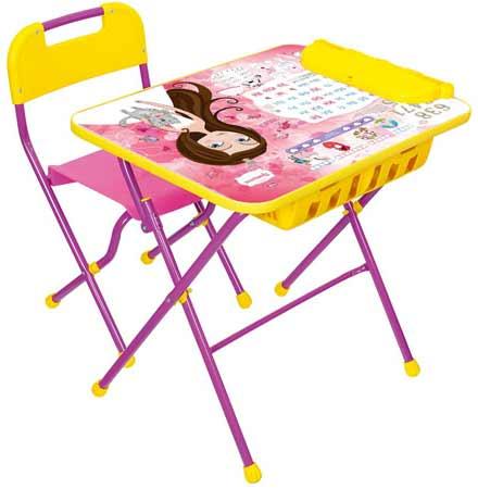 Комплект детской мебели Ника КПУ2П 17 (для 3-7 лет) тема Маленькая Принцесса