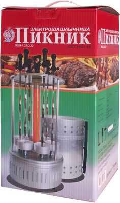 Электрошашлычница (шашлычница) Пикник ЭШВ-1,25 220-Гф (гофр.уп-ка, 6 шампуров, 1250Вт)