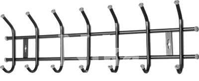 Вешалка настенная Ника ВНТ7 (7 крючков, 680х215мм) цвет-черный
