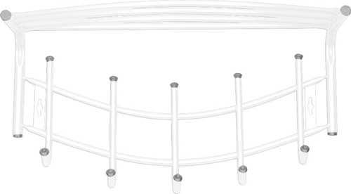Вешалка настенная Ника Премиум ВНП4 с полкой (5 крючков, 525х275мм) цвет-белый
