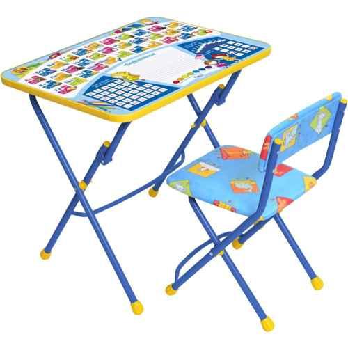Комплект детской мебели Ника КУ1 12 (для 3-7 лет) тема Первоклашка.Синий фон