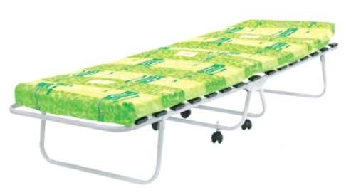 Раскладушка Люкс М1000 КР-01ЛМ1000 (ортопедическая раскладная кровать с матрасом на колесах)
