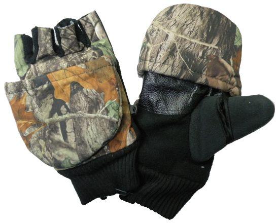 Перчатки для рыбалки N 2 (осень) камуфлированные с магнитом