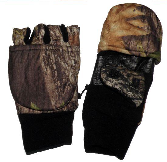 Перчатки для рыбалки N 3 (осень) камуфлированные на липучке