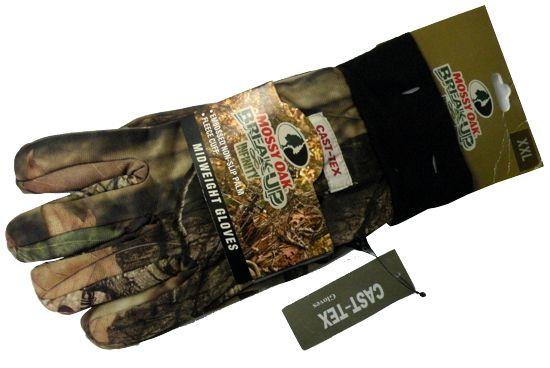 Перчатки N 7 (осень) камуфлированные прорезиненная ладонь (MOSSY OAK BREAK-UP)