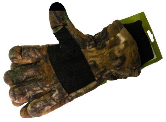 Перчатки для рыбалки N 11 (осень-зима) камуфлированные