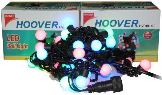 Гирлянда новогодняя 40 разноцветных шаров (d18мм), 5м