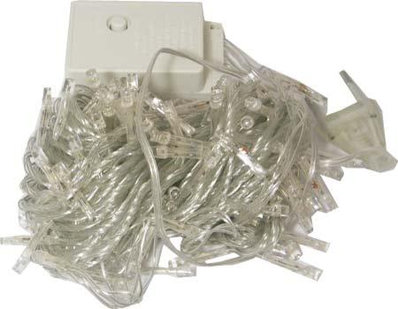 Гирлянда новогодняя 300 цветных LED лампочек 8 режимов (пластик.футляр)