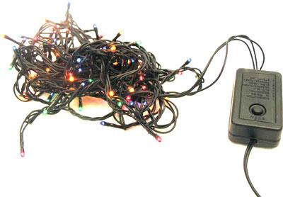 Гирлянда новогодняя 120 цветных лампочек, 8 режимов