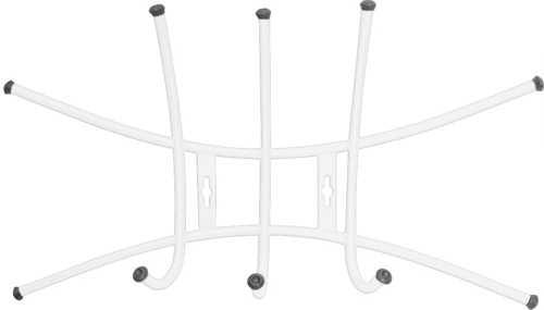 Вешалка настенная Ника Премиум ВНП1 (3 крючка) цвет-белый