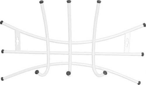 Вешалка настенная Ника Премиум ВНП2 (3 крючка, 525х275 мм) цвет-белый