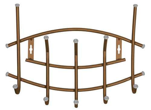 Вешалка настенная Ника Премиум ВНП3 (5 крючков, 450х305мм) цвет-медный антик