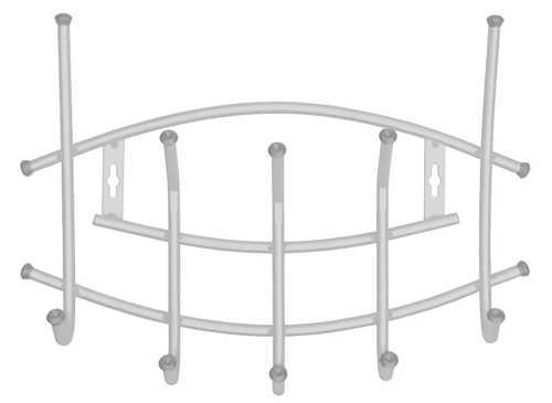 Вешалка настенная Ника Премиум ВНП3 (5 крючков, 450х305мм) цвет-серебро