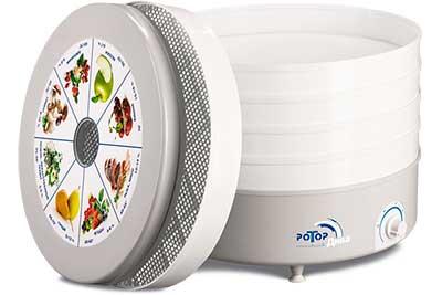 Сушилка для овощей и фруктов Ротор-Дива СШ-007-06 (гофр.уп-ка, круглая, 5 белых поддонов)