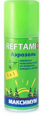 Репеллент Рефтамид REFTAMID Максимум 100мл антимошка-комар-клещ (4600171107636)