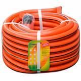 Шланг ПВХ 20м 3 4 дюйма (20мм) армированный оранжевый с черной полосой + мягкий коннектор (Гидроагрегат) (4690597123259)