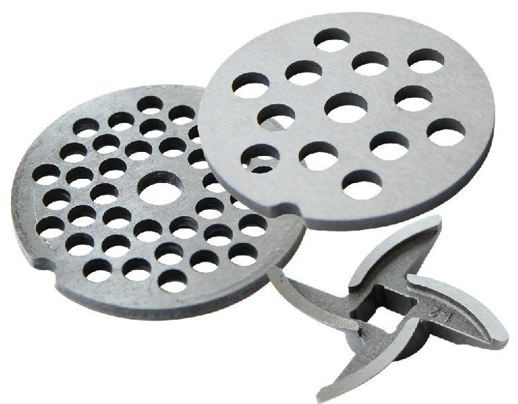 Набор (мелкая решетка + крупная решетка + нож) к мясорубкам БРИЗ и АКСИОН