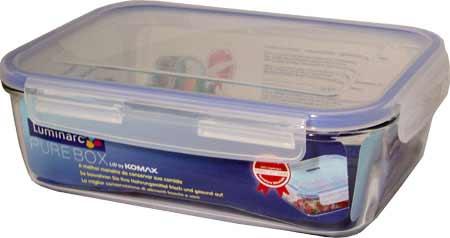 Контейнер прямоугольный PURE BOX 380мл, с крышкой