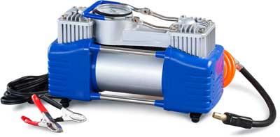Компрессор автомобильный Ротор Катунь-320 (двухпоршневой, 90 л мин, 10 кгс см2, воздушный шланг-гармошка 5.3м)