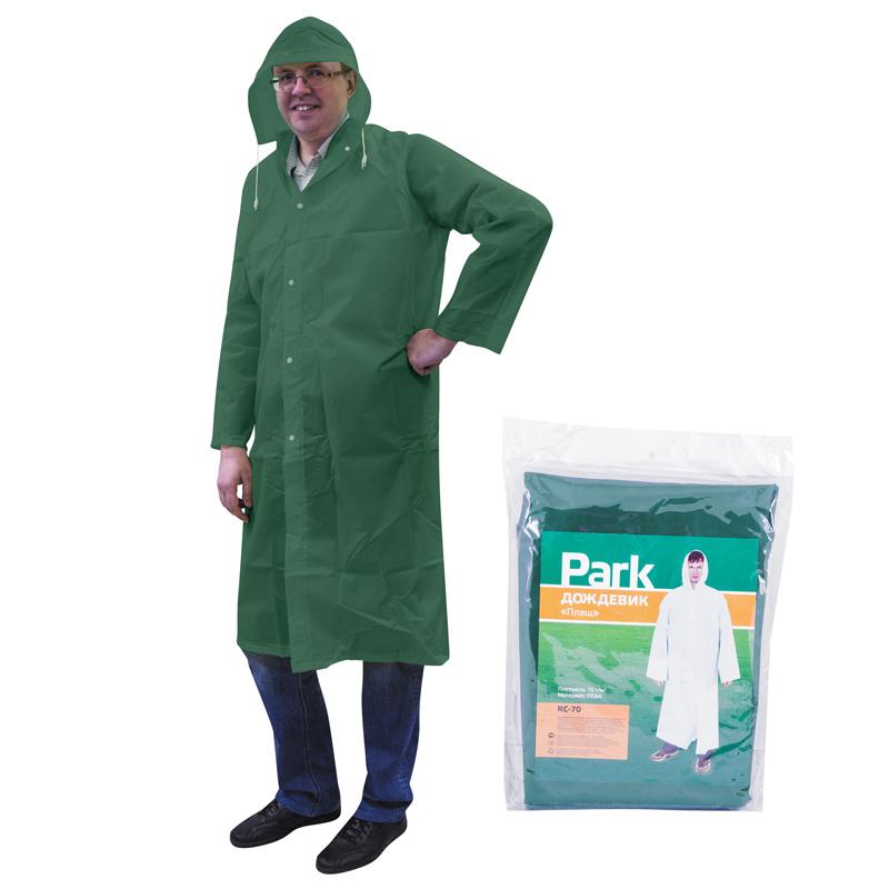 Дождевик-плащ RC-70, размер L (130x140см), зеленый , материал ПЕВА (999107)