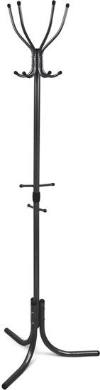 Вешалка напольная Ника Комфорт ВК4 Ч (цвет-черный, 4 крючка, 600х600х1800мм)